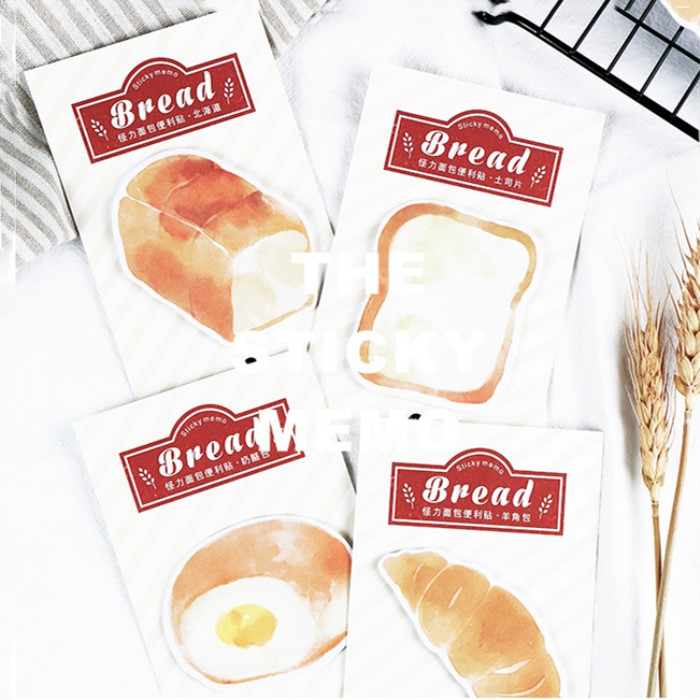 30 Sheets/pad French Style Bread Sticky Notes Creative Memo Note Pad Bookmark Flags Sticker Planner