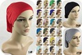 27 Colors Muslim Real Scarves Women Instant Islamic Tie Back Underscarf Hat Headband Hijab Caps Can Mix Free Shipping