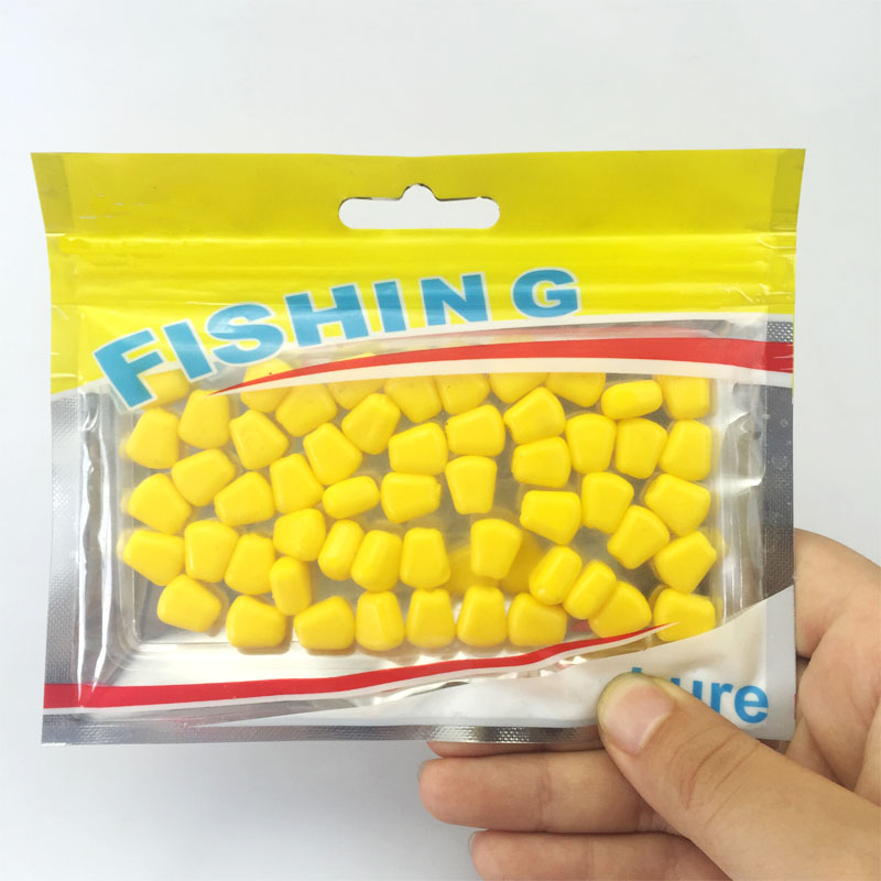 Hot selling 50Pcs Lot 44grams Soft Baits corn carp font b Fishing b font Lures font
