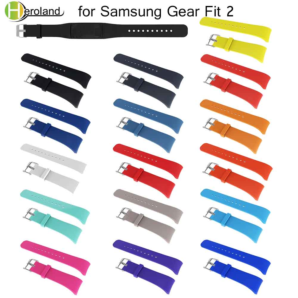 Wrist Strap Replacement Wristband For Samsung Gear Fit 2 Pro Band Luxury Soft Silicone Watchband For Samsung Fit 2 SM-R360 Strap