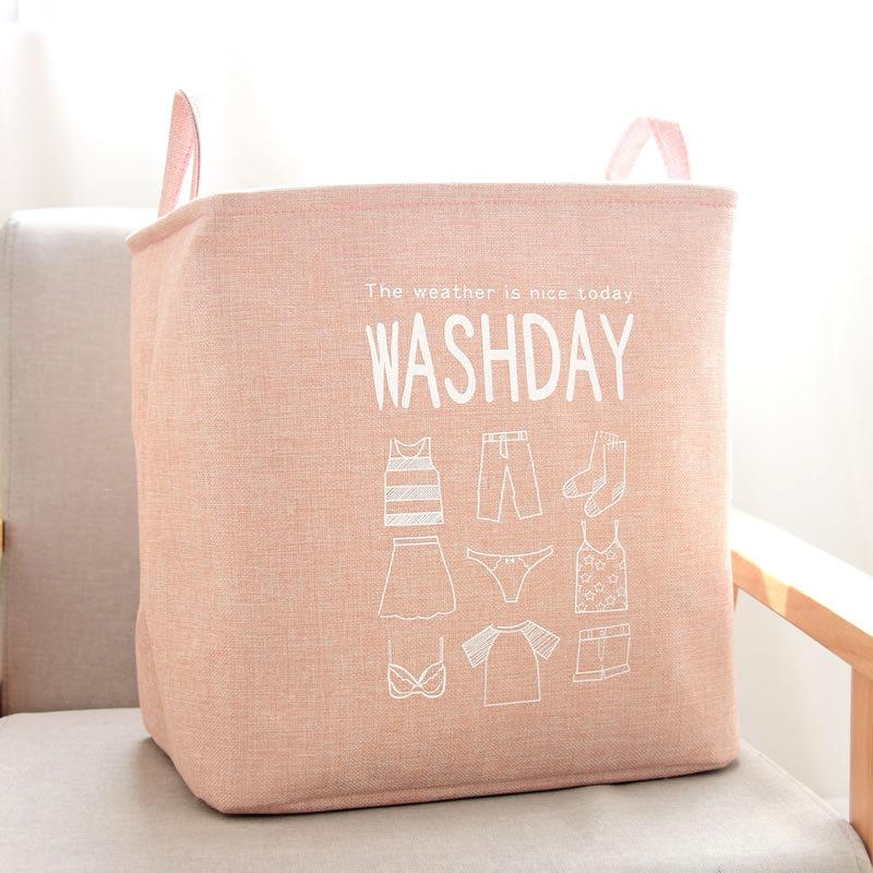 New Linen Waterproof clothing wardrobe laundry Basket Dirty Clothes Neatening Kids Toys Storage Bag Home Storage Organization