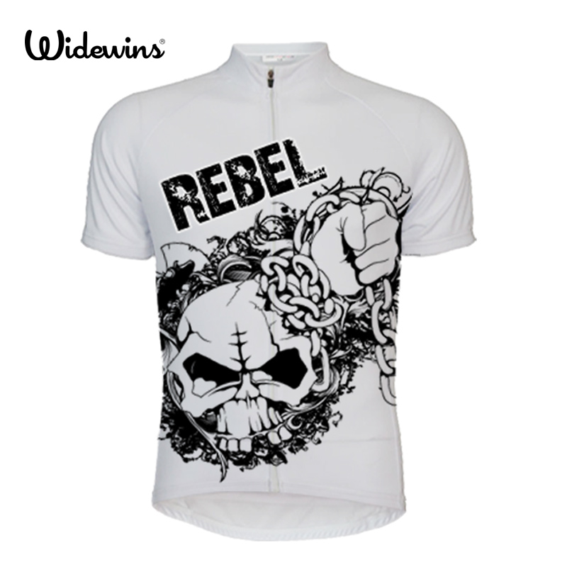 rebel Short Sleeve Cycling Jersey Men Personality Outdoor Sportswear Equipment Anti-UV Black Green Race Cycling 5299