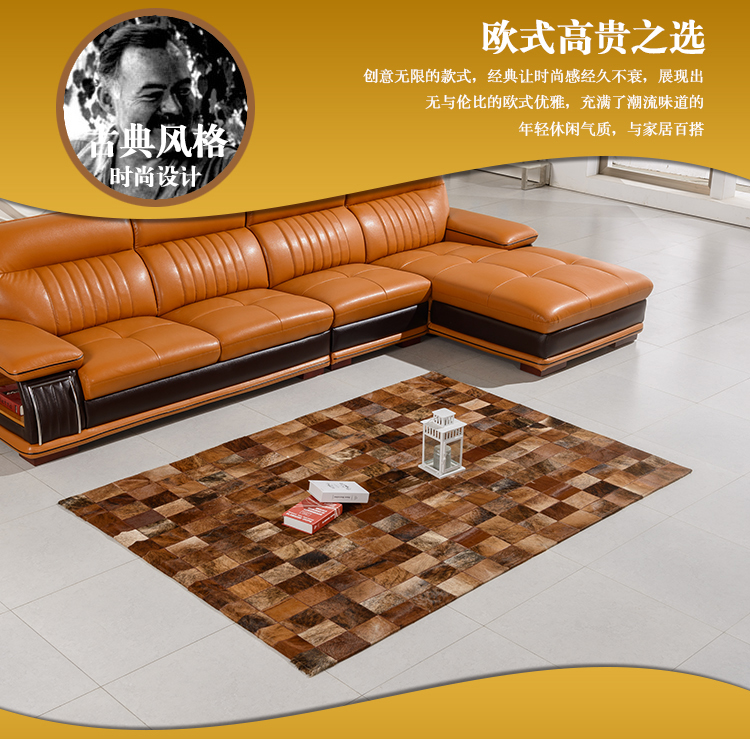 free font b Beauty b font 100 natural genuine cow leather customized tapis