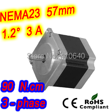 цена на 30 pieces per lot 3 phase step motor 23HT22-3006S L 56 mm Nema 23 with 1.2 deg 3 A 90 N.cm and unipolar 6 lead wires