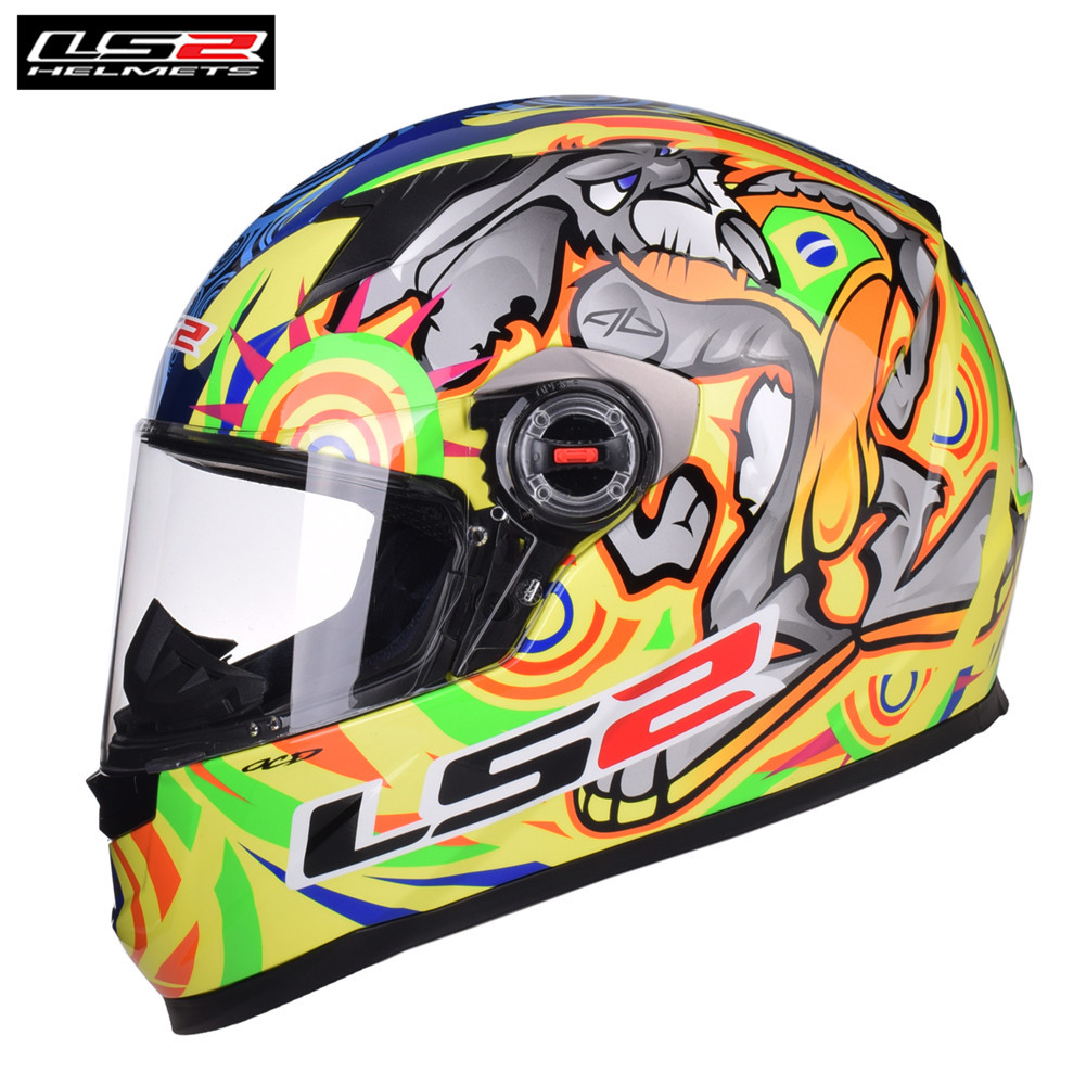 LS2 Full Face Racing Motorcycle Helmet Casco Capacete Casque Moto Helmets Kask Helm Caschi For Suzuki Motor FF358 Classic original ls2 ff353 full face motorcycle helmet high quality abs moto casque ls2 rapid street racing helmets ece approved