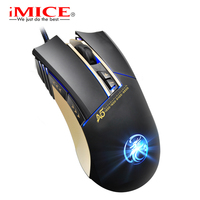 IMICE A5 Professionelle 7 Schlüssel Optische Maus Desktop Laptop PC Mäuse Vier-farbe Atmen Lampe Gaming Gewichtszunahme Maus garantie