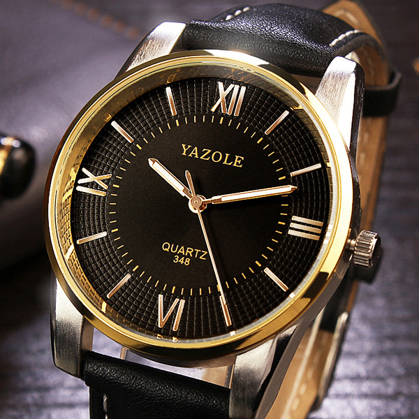 Luxury Gold Men Watches 2017 Top Famous Brand Casual Quartz Watch YAZOLE High Quality Male Golden Wristwatch relogio masculino quartz gold watch men luxury brand top rose golden watches women ladies women clock men famous casual fashion wristwatch lz142