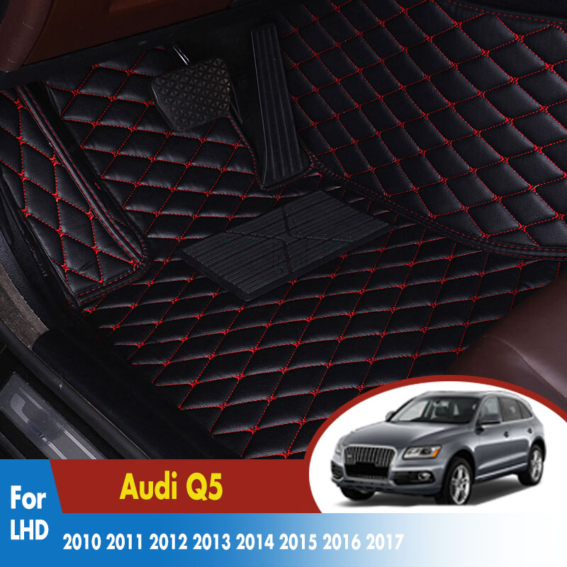 LHD Car Floor Mats For Audi Q5 2010 2011 2012 2013 2014 2015 2016 2017 Leather Rugs Dash Mats Auto Interior AccessoriesLHD Car Floor Mats For Audi Q5 2010 2011 2012 2013 2014 2015 2016 2017 Leather Rugs Dash Mats Auto Interior Accessories