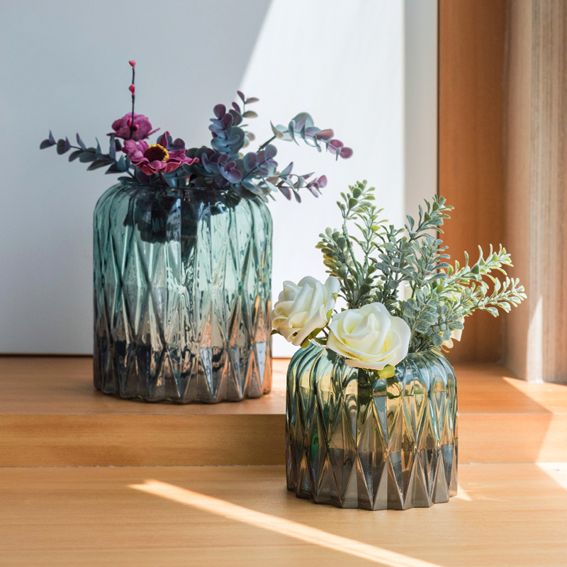 Air Dried Flower Vase Glass Transparent Hydroponic Rich Bamboo Vase Decoration Nordic Living Room Flower Arrangement Modern Buy At The Price Of 31 50 In Aliexpress Com Imall Com