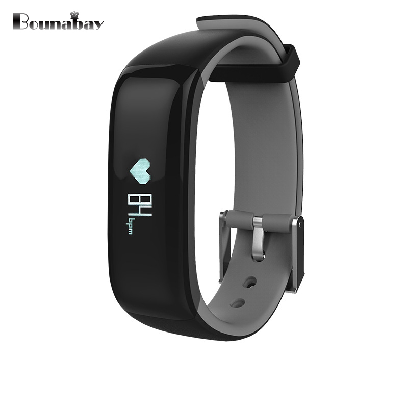 BOUNABAY Heart Rate Monitor Bluetooth watch men watches men's for apple ios Android phone man track clocks gps touch waterproof no 1 d5 bluetooth smart watch phone android 4 4 smartwatch waterproof heart rate mtk6572 1 3 inch gps 4g 512m wristwatch for ios