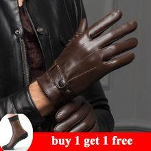 c44c1ab605a039 YY8597 wiosna/zima prawdziwe skórzane krótkie rękawiczki dla mężczyzn  męskie cienkie/gruby czarny/