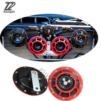 ZD 2X Car styling For Mercedes W203 W211 W204 W210 Benz BMW F10 E34 E30 F20 X5 E70 Air Red Horn alarm loudspeaker Blast Tone
