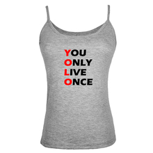 Women Individuality I Pooped Today You Only Live Once YOLO Tank Tops Vest Sleeveless Beach Singlets valentines Sexy Camisole