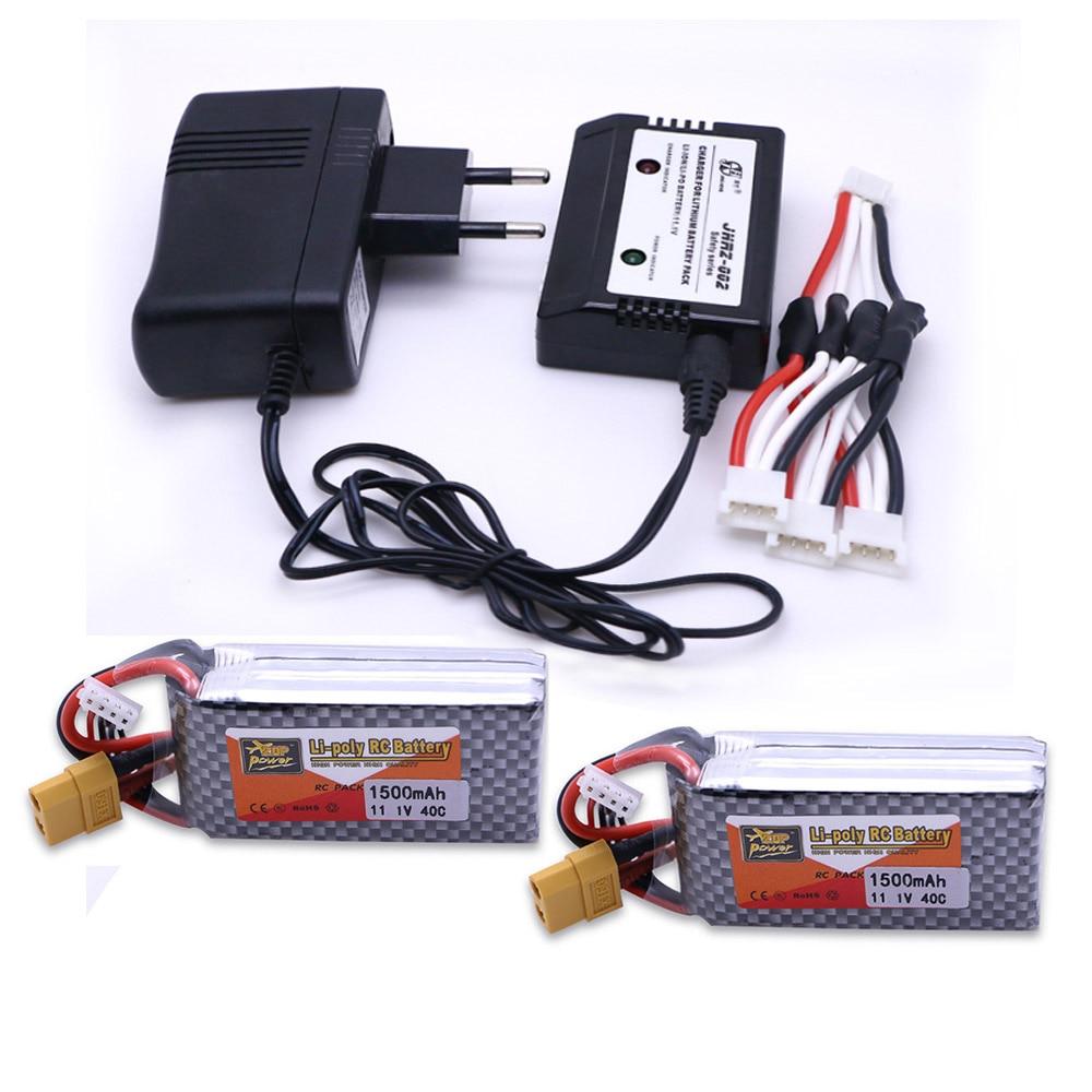 11.1 V 1500 Mah 3 S 40C ZOP LiPo Batterie XT60 Plug avec 11.1 v Lipo Chargeur Pour quadcopter rc drone voiture jouet d'avion Partie