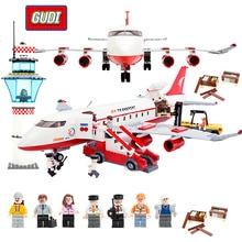 GUDI Block City Large Passenger Plane Airplane Block 856 pcs Bricks Assembly Boys Building Blocks Educational Toys For Children