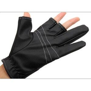 Image 4 - を Tsurinoya 冬釣り手袋ネオプレン 3 指カット手袋狩猟キャンプアンチスリップ Gel 屋外スポーツは暖かい手袋