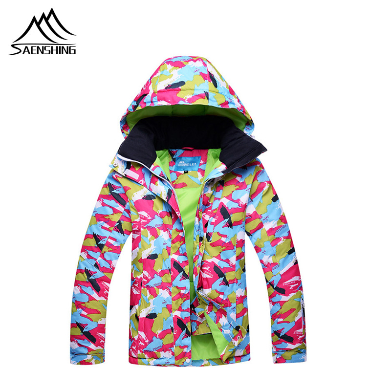SAENSHING vestes de Ski femmes marques veste de Ski femme chaud imperméable coupe-vent Ski et Snowboard manteau vêtements de sport d'hiver