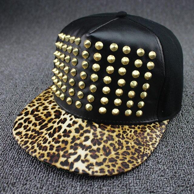 Bigbang G-Dragon hip hop cap GD fashion casual studded snapback gorra  beisbol hombre leopard print bones 5b7dd6548d1