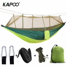 2018 Outdoor Furniture Mosquito Net Hammock Camping Hammock Garden Swing Chair 1-2 People Outdoor Hammock Soft Bed