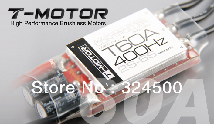 T-MOTOR High performance Brushless Motors 60A ESC 400Hz 2S-6S ADVANCE SPEED CONTROLLER UBEC 5V / 3A Brushed For RC Airplanes BEC image