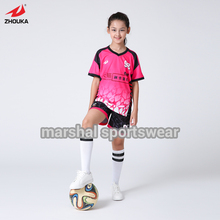 Free shipping,DIY Girls soccer jersey,sublimation custom jersey in top quality,football jersey,kids size