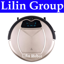 (Free to Russia) Robot Vacuum Cleaner, Two Side Brushes,LED Touch Screen.with Tone,HEPA Filter,Schedule,Self Charge