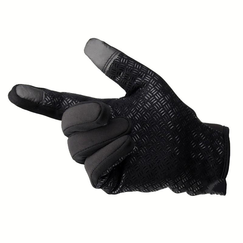 Windstopers Gloves Anti Slip Windproof Thermal Warm Touchscreen Glove Breathable Tactico Winter Men Women Black Zipper Gloves 18