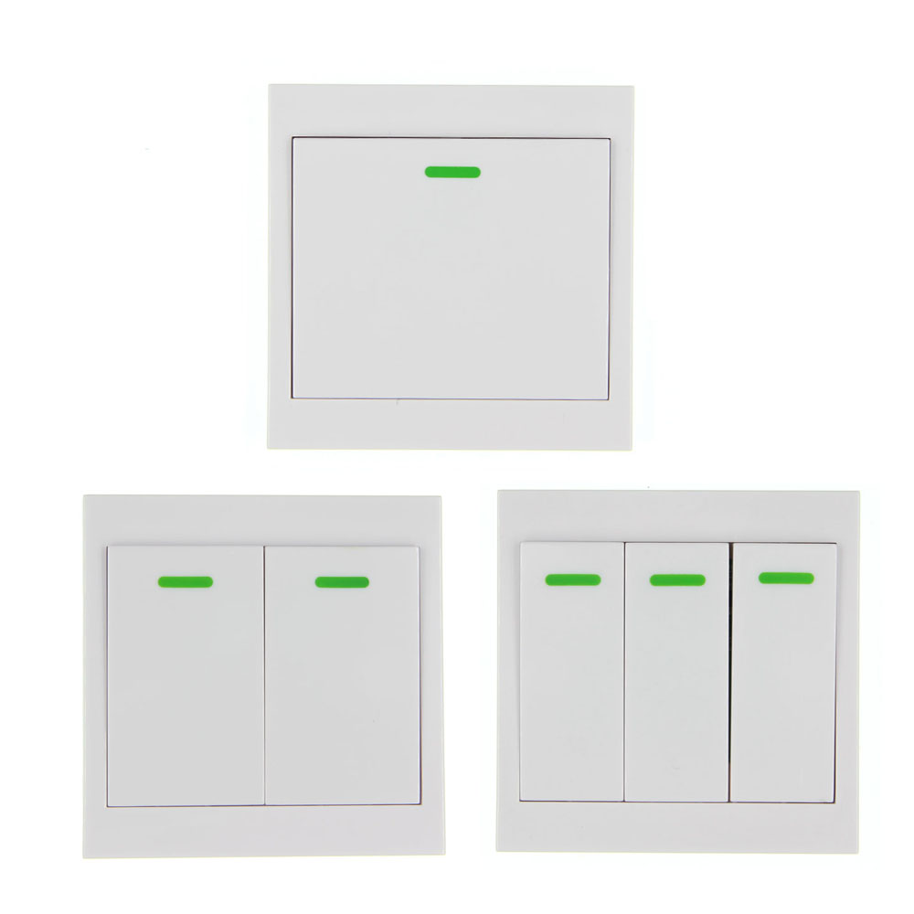 86 Wall Panel Wireless Remote Transmitter 1 2 3 Channel Sticky RF TX Smart For Home Living Room Bedroom 315 43392 MHZ
