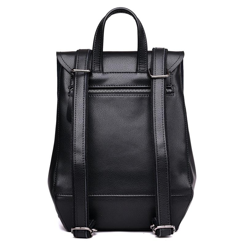 Mode homme sacs à dos en cuir véritable affaires décontracté hommes sacs à bandoulière voyage sac à dos pour femmes sacs d'école pour filles garçons - 3