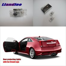 Liandlee Car Door Ghost Shadow Lights For Cadillac XTS 2013~2015 Courtesy Doors Lamp / Brand Logo LED Projector Welcome Light liandlee car door ghost shadow lights for acura mdx acura zdx courtesy doors lamp brand logo led projector welcome light