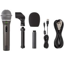 Microfone samson q2u usb de mão original, microfone usb dinâmico com xlr e usb i/o de alta qualidade, 100%