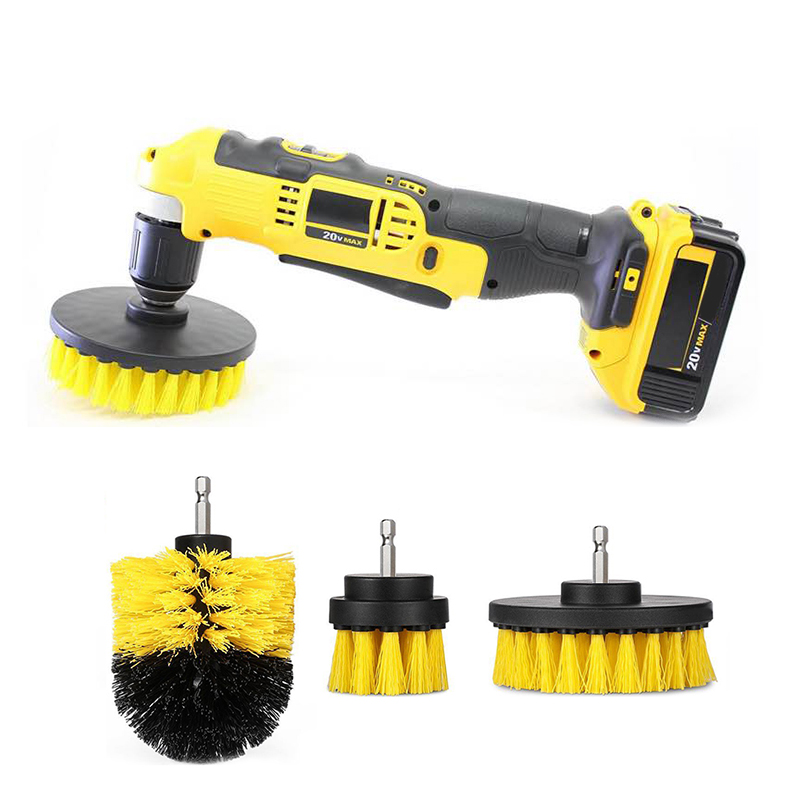 3Pcs//Set Scrubber Cleaning Brush For Drill Kit Tub Cleaner