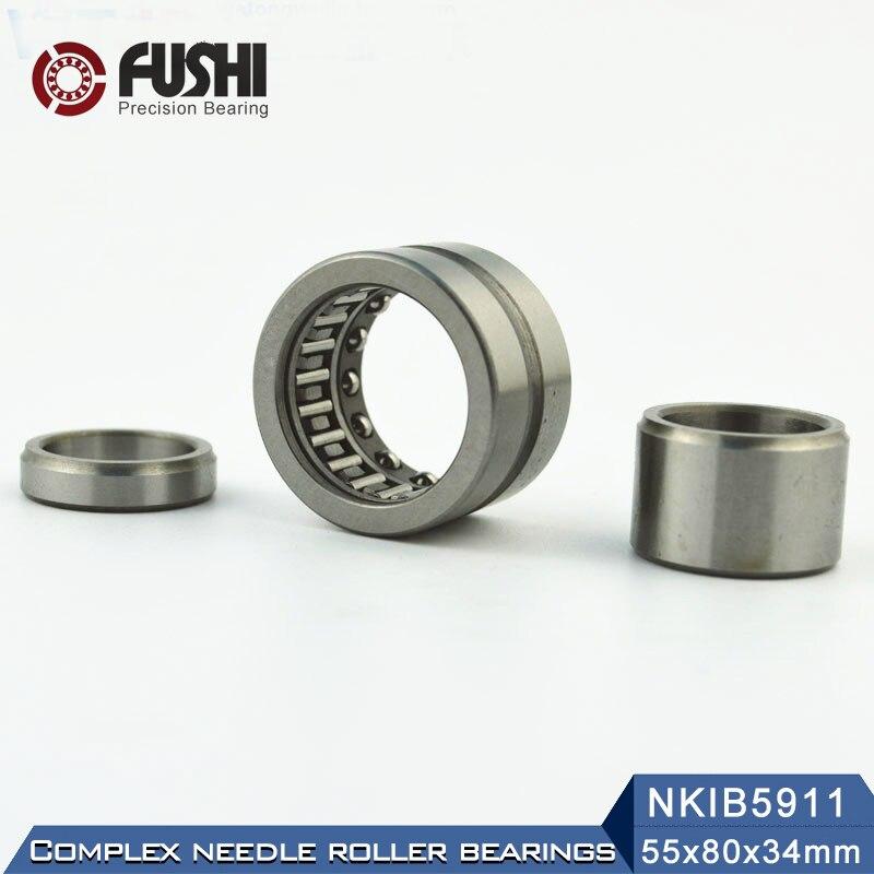 NKIB5911 Complex Bearings 55*80*34mm ( 1 PC) Needle Roller Angular Contact Ball Bearing NATB5911 NATB 5974911NKIB5911 Complex Bearings 55*80*34mm ( 1 PC) Needle Roller Angular Contact Ball Bearing NATB5911 NATB 5974911