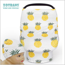 Купить с кэшбэком Mum Nursing Cover Scarf for Breastfeeding Friut Pineapple Baby Car Seat Canopy Shopping Cart Cover for Babies Multifunction Cape