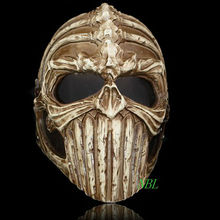 Horror Realistic Ghost Rider Scary Skeleton Masks Demon Protective Helmet Resin Mask Halloween Masquerade Cosplay Costume Props