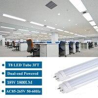 New 10PCS LED Tube T8 Light Lamp Integrated Wall Tube 18W AC85 265V 120CM 4ft 300mm T8 Led Lights SMD 2835 Lighting Cold White