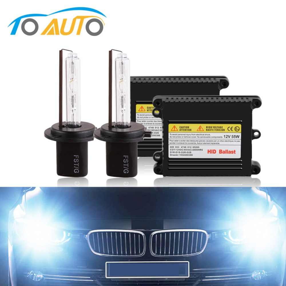 2pcs Xenon Kit H7 55W 12V Car Headlight Bulbs 3000K 4300K 5000K 6000K 8000K 10000K Auto Xenon Headlamp