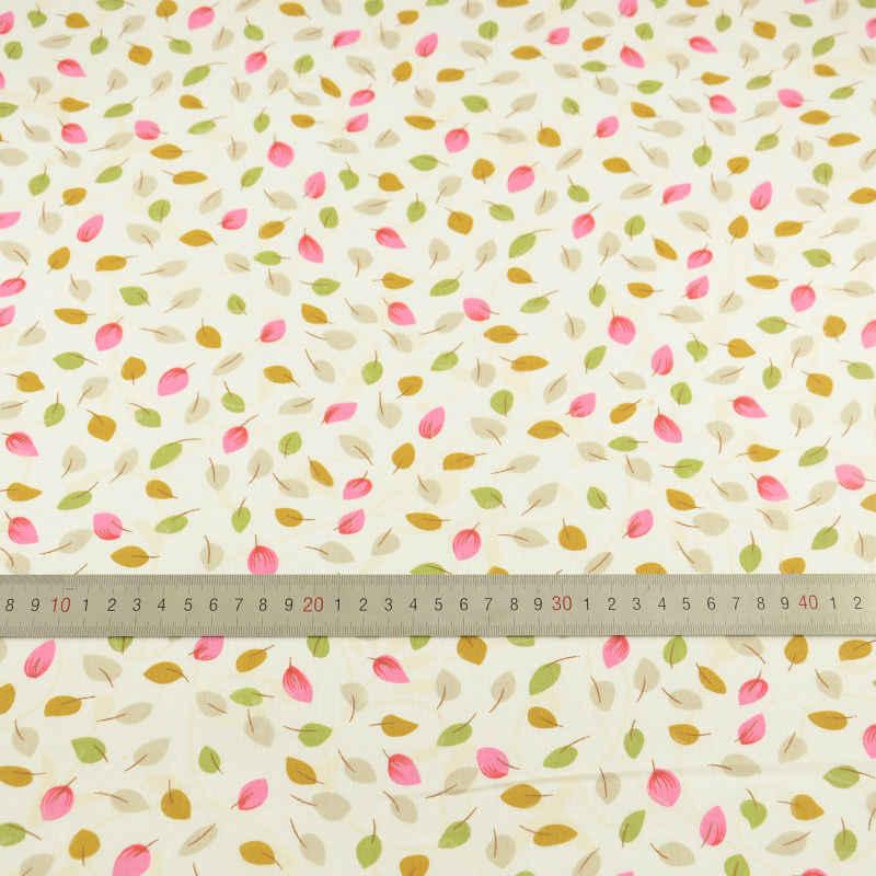 Lovely Leaf Designs 100% Cotton Light Yellow Fabric Plain Sewing Cloth Textile Art Work Patchwork Telas Tecido Tissue Doll's DIY