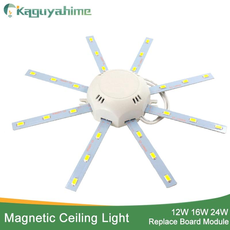 Kaguyahime Magnetico HA CONDOTTO LA Luce Modulo 12 W 16 W 20 W 24 W Ha Condotto Il Downlight Magnete Accessorio Octopus Anello di Placca ha condotto la Lampada 220 V Per Il Soffitto