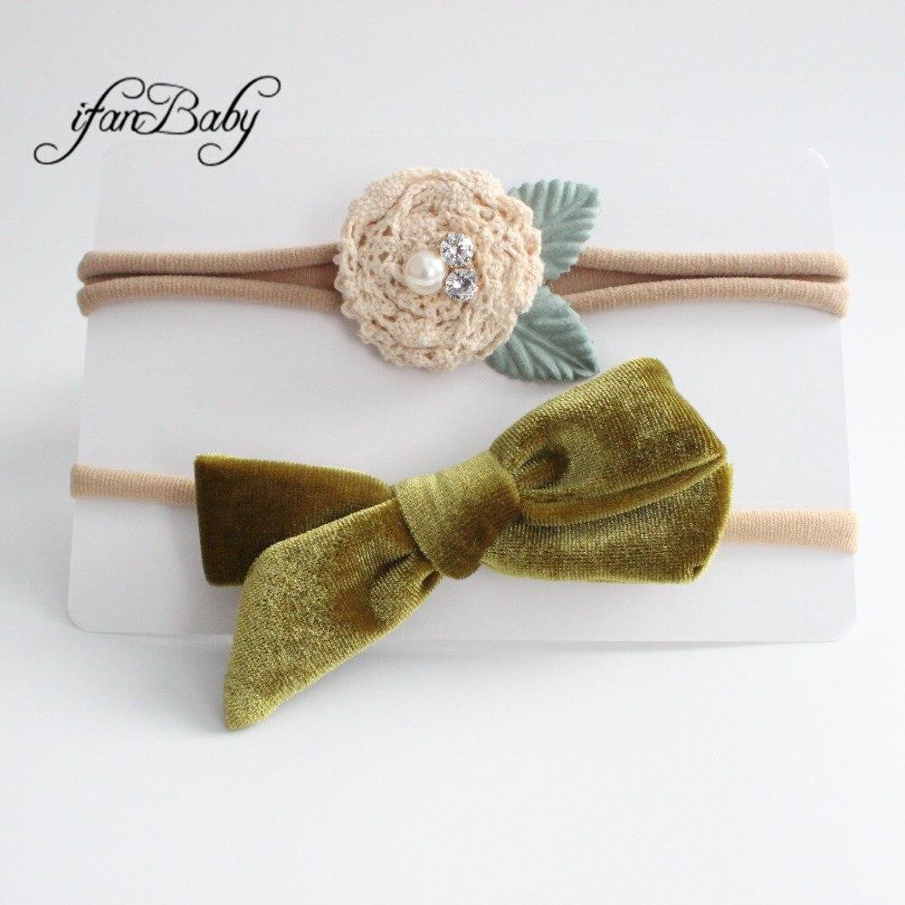 kids girl fabric flower headband nylon headband (5)