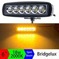 18 Вт 6 inch Янтаря Однорядные Светодиодные Бар Желтый Свет Работы Сид Striplights Выделить для Показателей Мотоцикл 4WD вождение Автомобиля