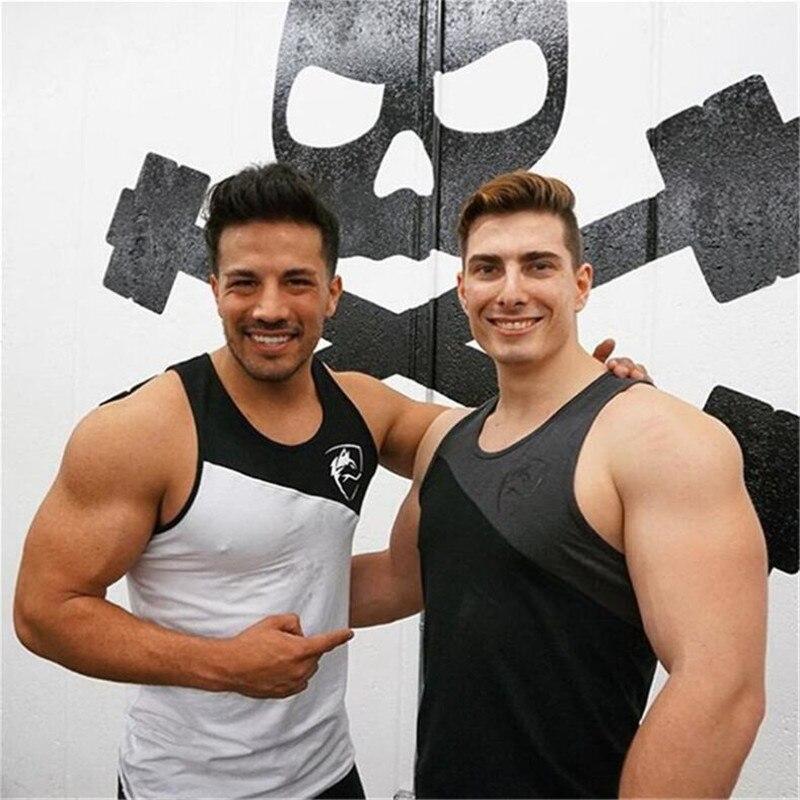 Männer Bodybuilding Tank top Fitness-Studios Fitness ärmelloses shirt 2018 Neue Männliche Baumwolle Crossfit kleidung Mode Singlet weste Unterhemd