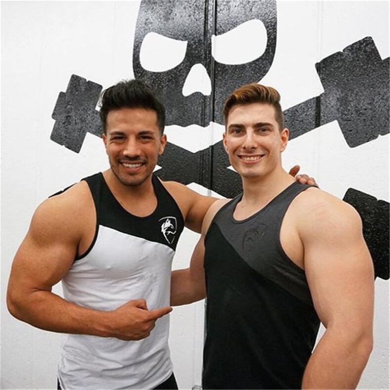 Men Bodybuilding   Tank     top   Gyms Fitness sleeveless shirt 2018 New Male Cotton Crossfit clothing Fashion Singlet vest Undershirt