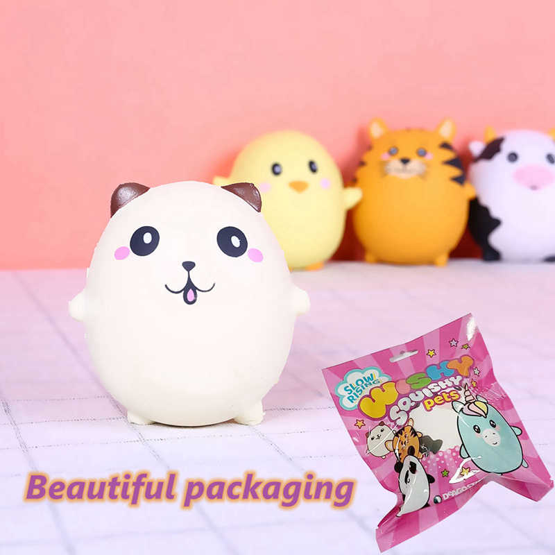 Cute Kawaii Squishy Cartoon Animals Panda Unicorn Pig Cat Eggs Slow Rising Antistress Novelty Funny Toys For Children Squishies