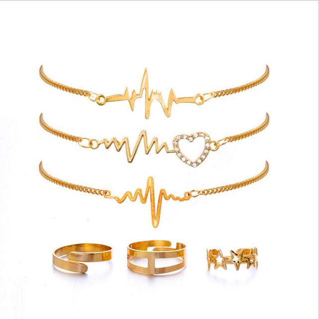 Gift Gold Color Love Heart...
