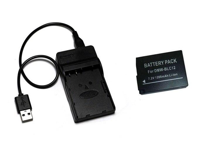 G5 USB DMW-BLC12E für Panasonic Lumix DMC-FZ200 G6 Akku-Ladegerät GH2