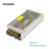 AC 100V 240V To DC 24V6A Voltage Transformer Switch Power Supply For Led Strip Led Control