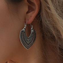 1 Pair Middle East Vintage Hollow Heart Flower Gold/ Silver Color Geometric Bohemia Long Earrings Women Jewelry Pendante цена в Москве и Питере