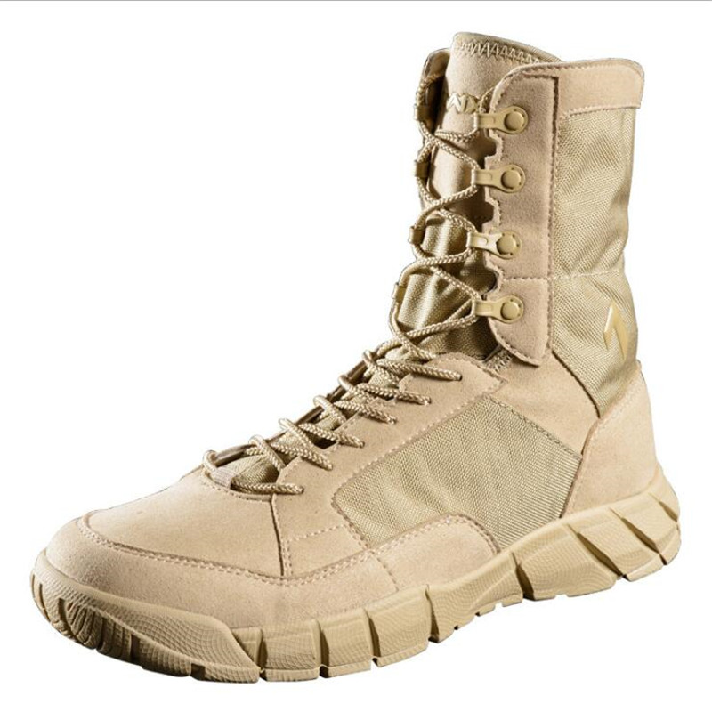 Summer Ultra-light Combat Boots Outdoor Shoes Men's Tactical Boots Climbing Breathable Lightweight Mountain Shoes Desert Boots the most light combat boots single ultra light ultra fiber super breathable size38 45 ao3