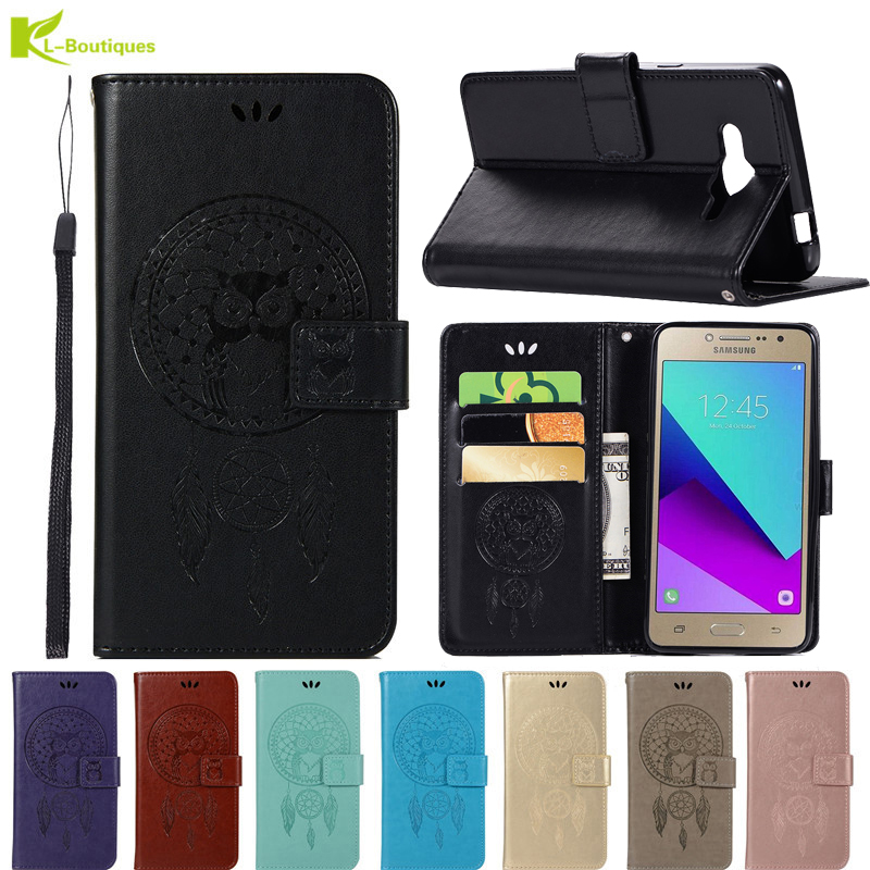 Camera & Photo For Samsung J2 Prime Phone Etui On For Fundas Samsung Galaxy J2 Prime G530h Case Luxury Owl Leather Flip Wallet Card Cover Coque A Plastic Case Is Compartmentalized For Safe Storage